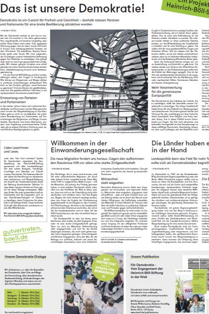 """Die Zeitungsbeilage """"Update für Demokratie"""" in der Süddeutschen Zeitung"""